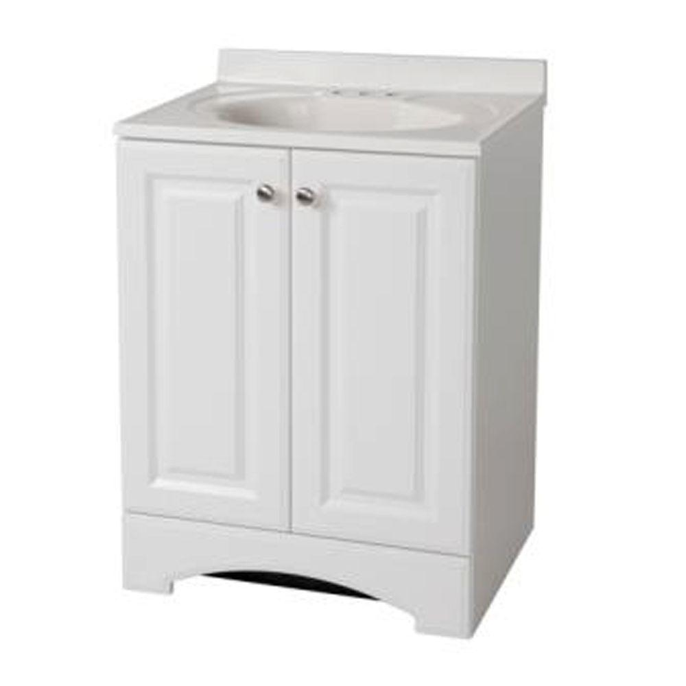 Vanity In White With Ab Engineered Composite Top 631254 98 00 55