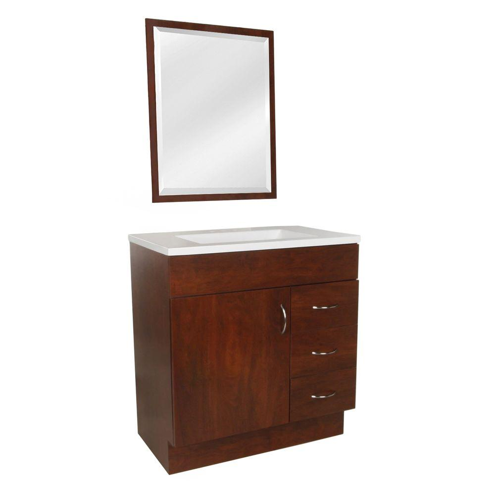 Vanity In Hazelnut With Ab Engineered Composite Top White And Mirror 954508 249 00 135